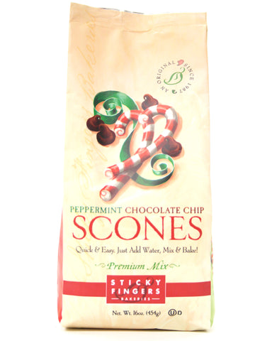 Sticky Fingers Premium Peppermint Chocolate Chip Scone Mix - Net Wt. 16 oz.