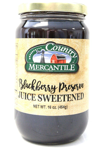 Country Mercantile Juice Sweetened Blackberry Preserves