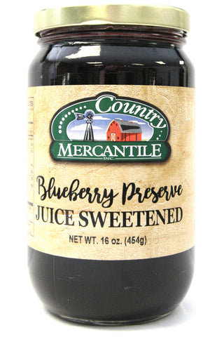 Country Mercantile Juice Sweetened Blueberry Preserves