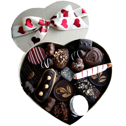 Assorted Specialty Chocolates in Heart-Shaped Box