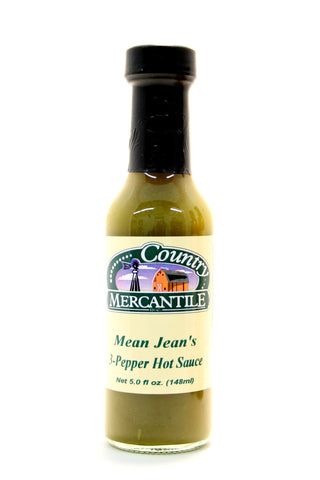 Country Mercantile Mean Jean's 3-Pepper Hot Sauce