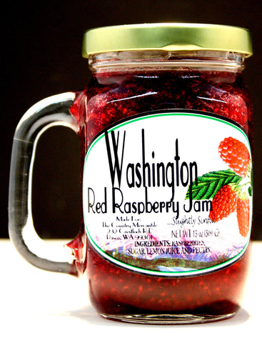 Washington Red Raspberry Jam - Net wt 13 oz.