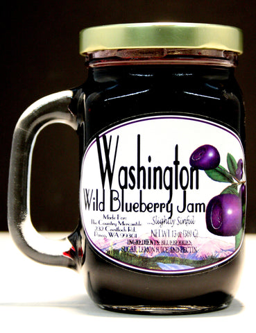 Washington Wild Blueberry Jam - Net Wt. 13 oz