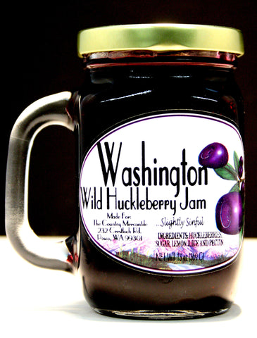 Washington Wild Huckleberry Jam - Net wt. 13 oz.