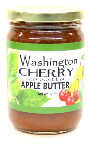 Washington Cherry Vanilla Apple Butter