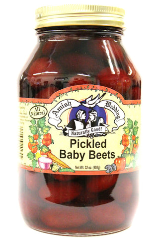 Amish wedding Pickled Baby Beets 32 oz.