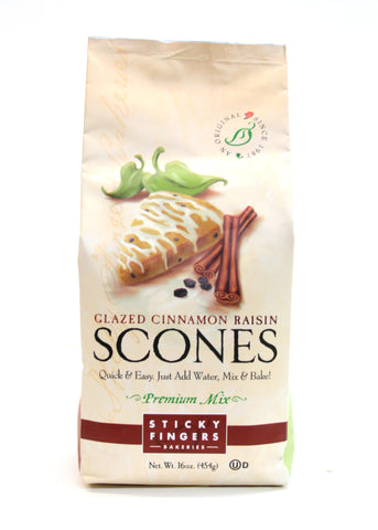 Sticky Fingers Glazed Cinnamon Raisin Scones Premium Mix
