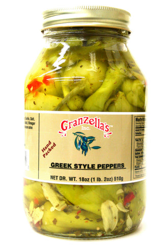 Granzella's Greek Style Peppers 18 oz.