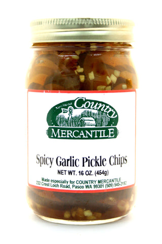 Country Mercantile Spicy Garlic Pickle Chips