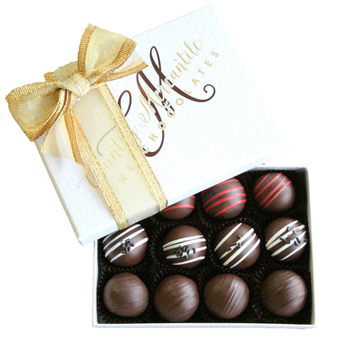 12 pc. Dark Chocolate Truffles Assortment Box