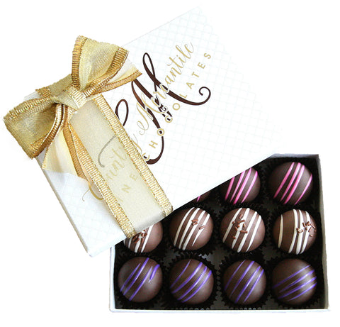 12 pc. Milk & Dark Chocolate Truffles Assortment Box