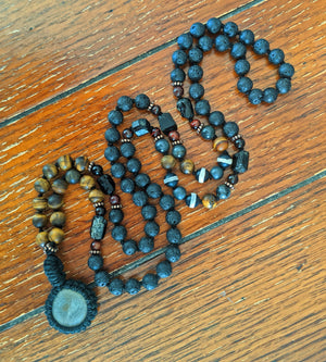 Ocean Stone Mala - Red Cat Wellness