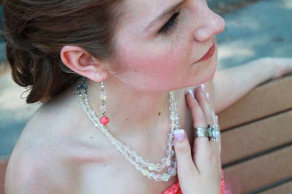 Graduation jewelry, Grad jewelry, necklace, earrings, ring, Swarovski crystal,  prom jewelr