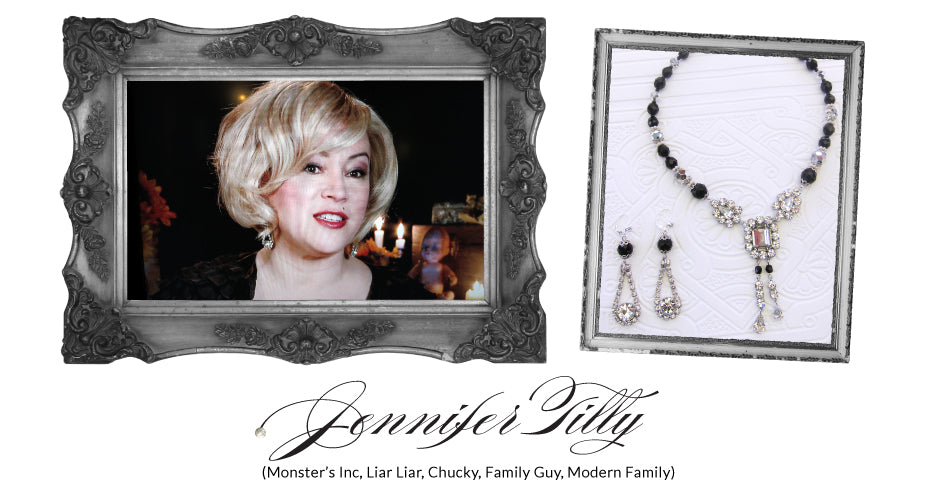Jennifer Tilly wearing Vintage Bling for the movie Chucky, shot locally in Winnipeg