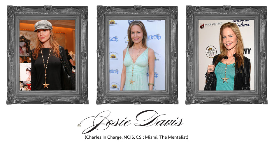 Josie Davis from Charles In Charge, NCIS, CSI: Miami, The Mentalist, wears Vintage Bling at Red Carpet Events