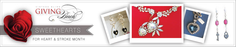 Vintage Bling supports The Heart & Stroke Foundation with the Sweetheart Collection of jewellery