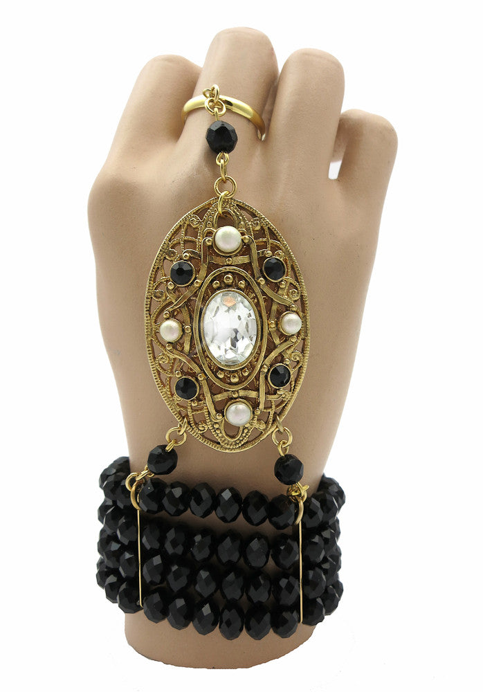 Great Gatsby Inspired Hand Jewelry Bracelet