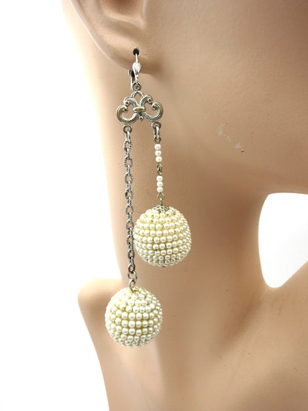 Pearl Disco Ball Earrings