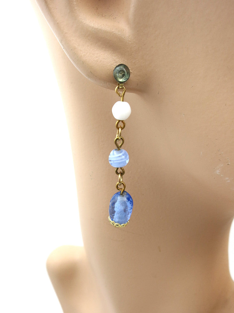 Short Blue Earrings