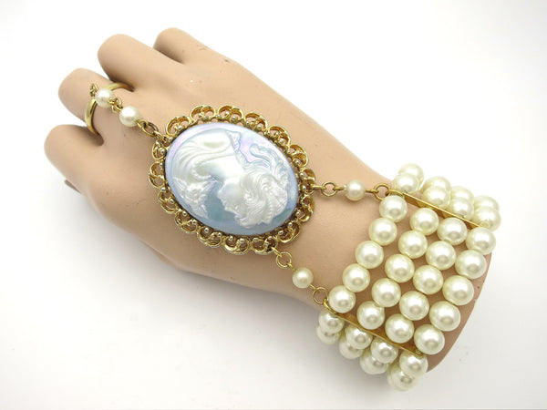 Great Gatsby Inspired Hand Jewelry Bracelet 4