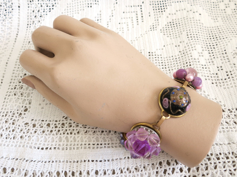 Purple Treasure Box Bracelet