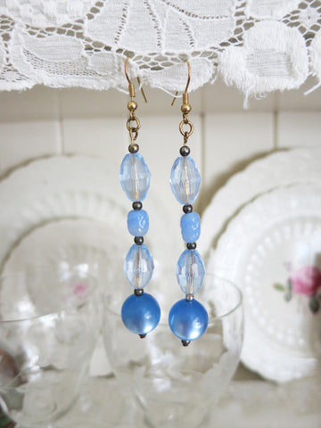 Long Blue Earrings