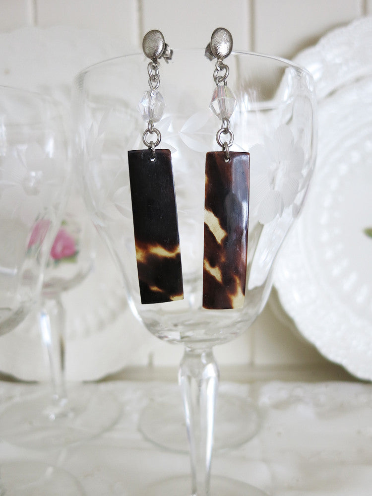 Genuine Tortoise Shell Earrings
