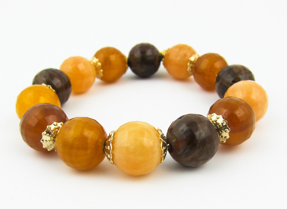 Chocolate, Butterscotch Bracelet