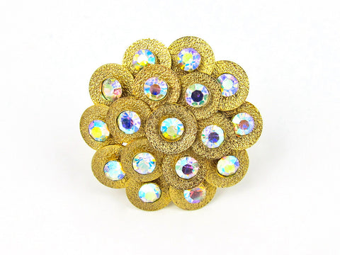 Gold Aurora Borealis Ring