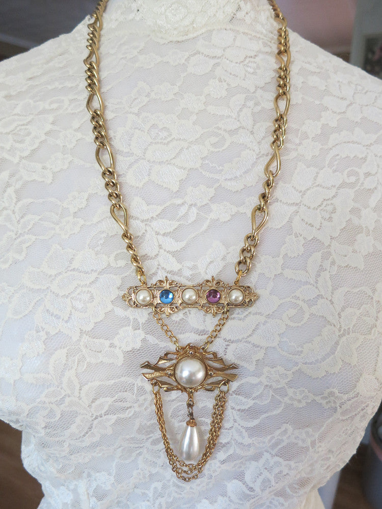 Pearl Swag Necklace
