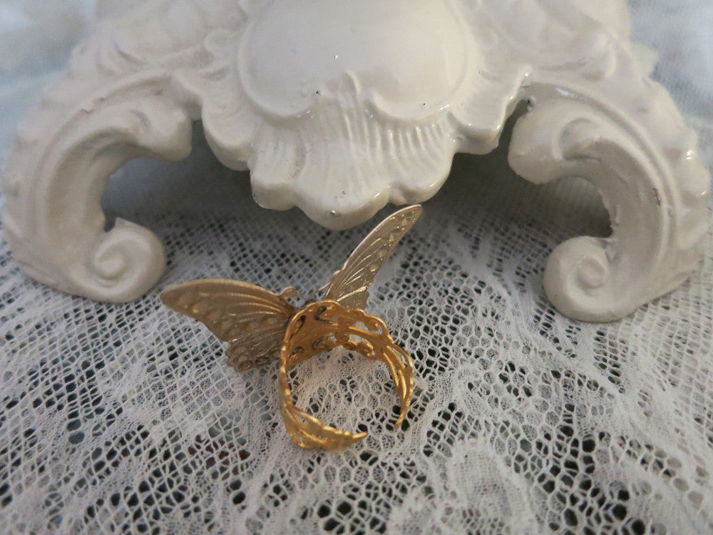 Petit Point Butterfly Ring