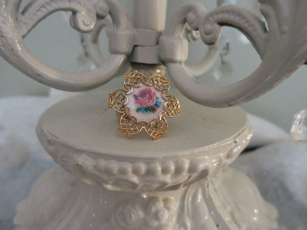 Petit Point Filigree Ring