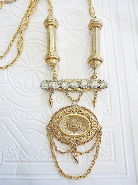 Long Gold Swag Necklace