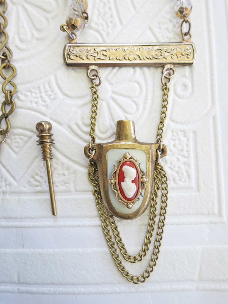 Mother of Pearl Perfume Bottle Necklace