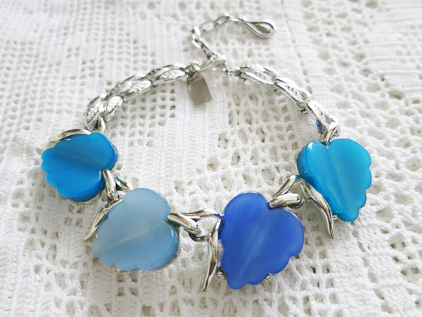 Blue For You Heart Bracelet