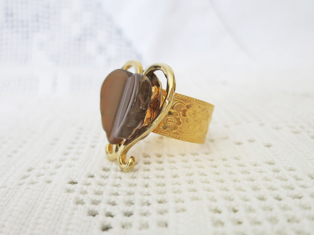 Chocolate Heart Ring