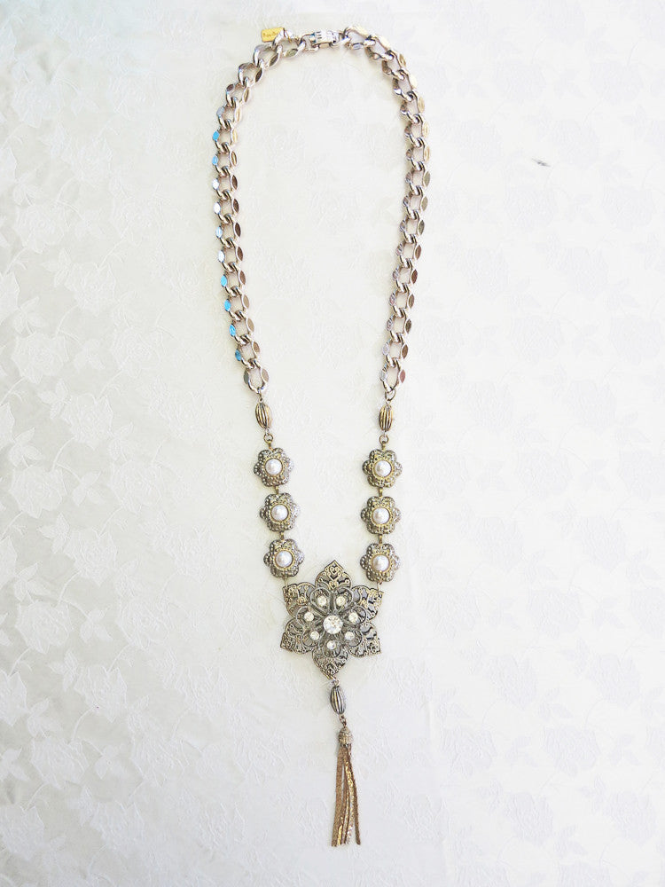 Starburst Tassel Necklace