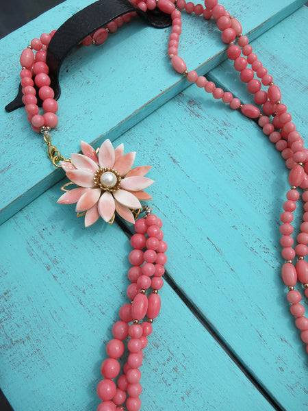 Peachy Flower Necklace