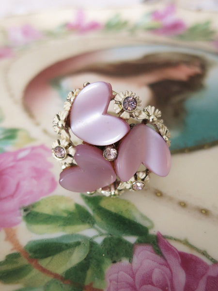 Lavender Hearts Ring