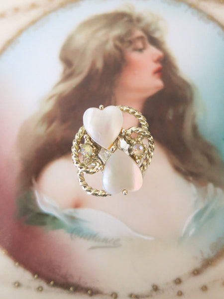 Sweetheart Mother of Pearl Ring