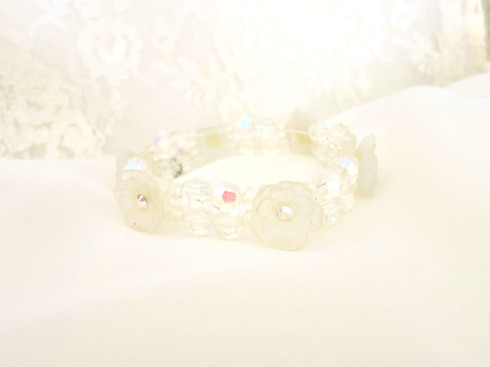 Lovely Double Strand Swarovski Crystal Bracelet