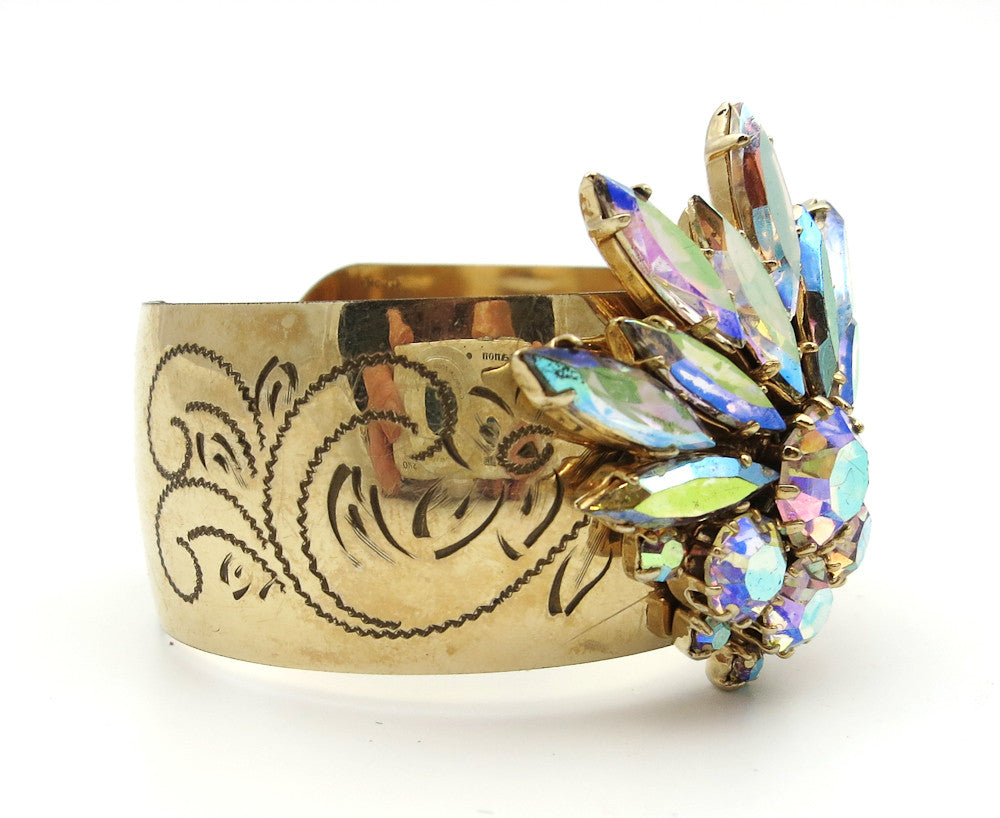 GF Cuff With AB Rhinestones