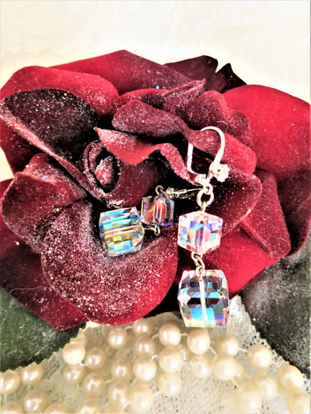 Swarovski Crystal Cube Earrings