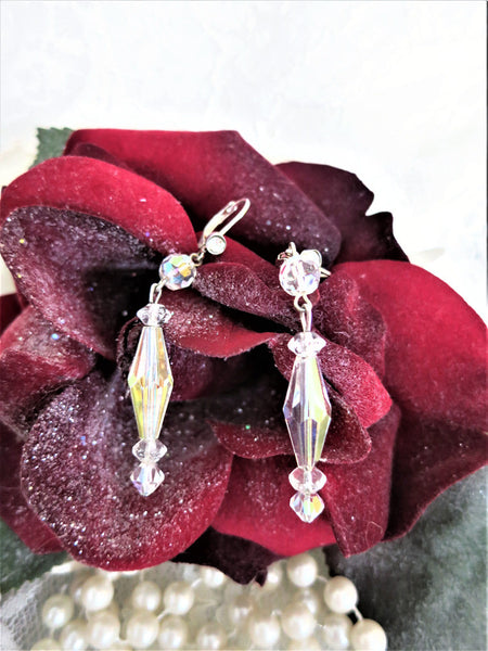 Bi-cone Swarovski Crystal Earrings