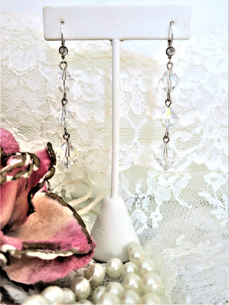 Swarovski Crystal Bi-Cone Earrings