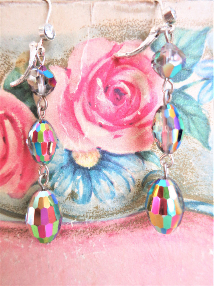 Aurora Borealis Crystal Earrings