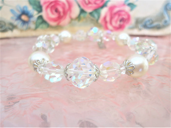 Gorgeous Pearl and Swarovski Crystal Bracelet