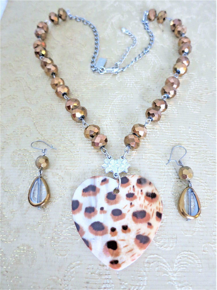 Wild Heart Necklace & Earrings