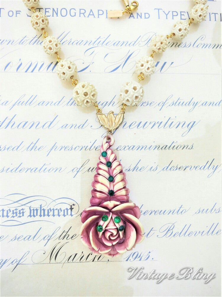 Unique Flower Necklace