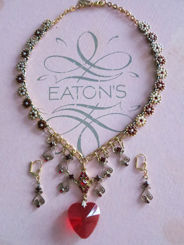 Heart Throb Necklace and Earring Set